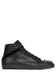 John Richmond Leather And Suede High Top Sneakers Black