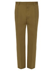 Christophe Lemaire Pleated Cotton And Linen Blend Trousers