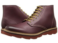 Clarks Frelan Rise Burgundy Leather Men's Lace Up Boots