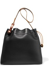 Tom Ford Hook Leather Tote Black