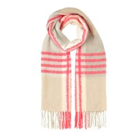 Miss Selfridge Check Fluoro Scarf. Pink