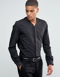 Hart Hollywood By Nick Slim Smart Shirt With V Neck Black
