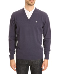 Lacoste Navy Blue Cashmere Marabout Sweater