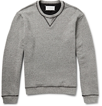 Maison Martin Margiela Leather Elbow Patch Jersey Sweatshirt Gray