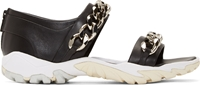 Givenchy Black Chain Accent Sandals