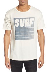 Project Social T 'Surf' Graphic T Shirt Cream