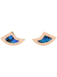 Dezso Opal Diamond And Rose Gold Earrings Blue