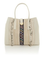 Matthew Williamson Nomad White Large Tote Bag White