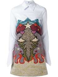 Mary Katrantzou Graphic Cowboy 'Steal' Dress Metallic