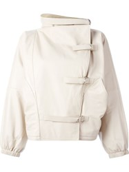 J.W.Anderson J.W. Anderson Buckled Leather Jacket Nude And Neutrals