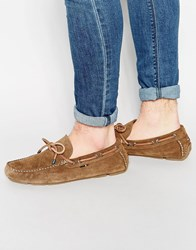 Tommy Hilfiger Suede Monte Loafers Brown