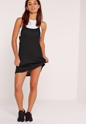 Missguided Crop Sports Top 2 In 1 Dress Black Black