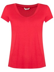 Lygia And Nanny V Neck T Shirt Red