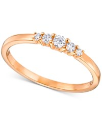 Swarovski Five Crystal Statement Ring Rose Gold