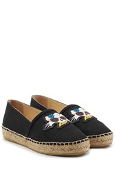 Karl Lagerfeld Choupette On The Beach Espadrilles Black