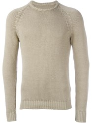 Massimo Alba Crew Neck Jumper Nude And Neutrals