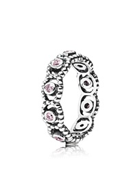Pandora Design Pandora Ring Sterling Silver And Cubic Zirconia Her Majesty Silver Pink