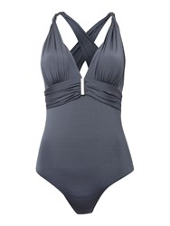 Biba Sophia X Back Swimsuit Dark Grey