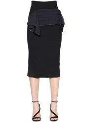 Maticevski Canvas Bow Cady Pencil Skirt