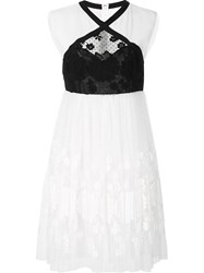 Giamba Lace Sleeveless Dress White