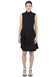 J.W.Anderson Draped Asymmetric Collared Dress Black