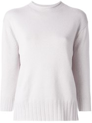 Malo Three Quarters Sleeve Pullover Pink And Purple