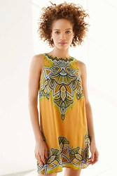 Ecote Guinevere Open Back Frock Dress Yellow