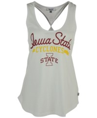 G3 Sports Women's Iowa State Cyclones Short Stop Twist Back Tank Top White