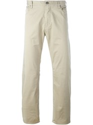 Armani Jeans Slim Fit Chinos Nude And Neutrals
