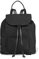 Elizabeth And James Langley Leather Trimmed Shell Backpack Black