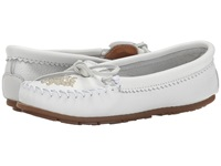 Minnetonka Deerskin Beaded Moc White Deerskin Women's Moccasin Shoes