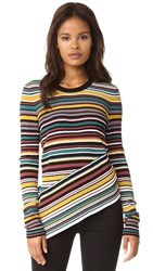 Milly Directional Stripe Pullover Color Multi