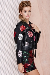 Nasty Gal X Peggy Noland Hand Painted Leather Jacket