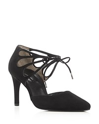 Paul Green Justeen Lace Up D'orsay Pumps Black