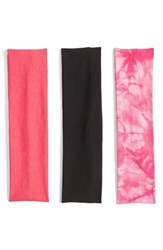Berry Stretchy Head Wraps Pink Set Of 3 Pink Multi