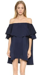 Mlm Label Maison Off Shoulder Dress Dark Blue