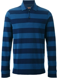 Aspesi Striped Polo Shirt Blue