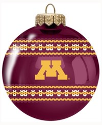 Memory Company Minnesota Golden Gophers Ugly Sweater Ball Ornament Maroon
