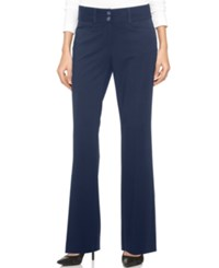 Alfani Two Button Curvy Fit Pants Only At Macy's Navy