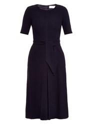 Goat Blythe Pleated Wool Crepe Midi Dress