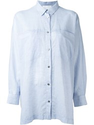 Reality Studio Loose Fit 'Ave' Shirt Blue