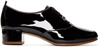 Marc Jacobs Black Patent Betty Oxfords
