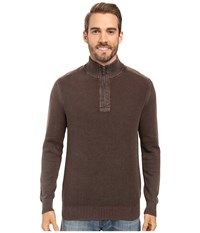 Tommy Bahama Coastal Shores 1 2 Zip Double Chocolate Men's Clothing Brown