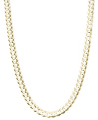Macy's 22' Curb Chain 4 3 5Mm Necklace In 14K Gold