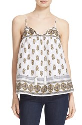 Joie Women's 'Chatham' Border Print Cotton And Silk Camisole