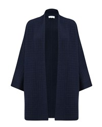 Jigsaw Square Stitch Cardigan Navy