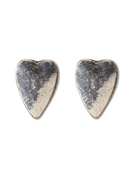 White Stuff Connie Heart Stud Earring Silver Metallic