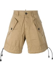 Dsquared2 Multi Pocket Shorts Nude And Neutrals