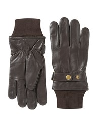 Skopes Leather Gloves Brown