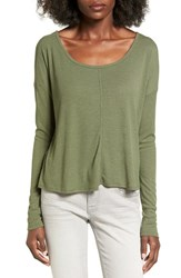 Chloe And Katie Women's Knotted Drape Back Tee